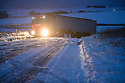 08/12/17<br /> <br /> A lorry slides off the road after over-night snowfall near Monyash in the Derbyshire Peak District.<br />   <br /> All Rights Reserved F Stop Press Ltd. +44 (0)1335 344240 +44 (0)7765 242650  www.fstoppress.com