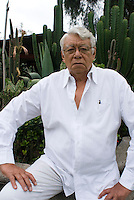 Portrait of radio personality Jorge Saldaña Hernandez at his house in Jalapa Ver. April 9, 2008