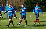 8.3.2018: Rangers training:<br /> Greg Docherty, Declan John and Matty Shields