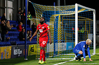 James Alabi of Leyton Orient shows despair during the The Leasing.com Trophy match between AFC Wimbledon and Leyton Orient at the Cherry Red Records Stadium, Kingston, England on 8 October 2019. Photo by Carlton Myrie / PRiME Media Images.