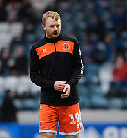 Blackpool's Chris Taylor during the pre-match warm-up<br /> <br /> Photographer Chris Vaughan/CameraSport<br /> <br /> The EFL Sky Bet League One - Rochdale v Blackpool - Wednesday 26th December 2018 - Spotland Stadium - Rochdale<br /> <br /> World Copyright &copy; 2018 CameraSport. All rights reserved. 43 Linden Ave. Countesthorpe. Leicester. England. LE8 5PG - Tel: +44 (0) 116 277 4147 - admin@camerasport.com - www.camerasport.com