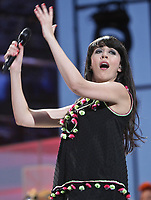 "Nolwenn Leroy performs at the ""Paris-Quebec"" show of the 44th Festival d'ete de Quebec on the Plains of Abraham in Quebec city Thursday July 7, 2011."