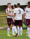 Callum Paterson heads Hearts into the lead and takes the acclaim