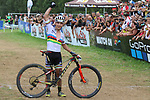Men Elite Cross-Country Olympic UCI 2017 MOUNTAIN BIKE WORLD CUP  in Daloasa, Val Di Sole on August 27, 2017; Switzerland's Nino Schurter (SUI) wins the overall World Cup ranking.