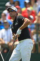 Adam Scott (AUS) tees off the 1st tee to start his match Sunday's Final Round of the 94th PGA Golf Championship at The Ocean Course, Kiawah Island, South Carolina, USA 11th August 2012 (Photo Eoin Clarke/www.golffile.ie)