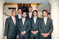 4-4-07, England, Birmingham, Tennis, Daviscup England-Netherlands, ltr: Rogier Wassen, Igor Sijsling, Raemon Sluiter, captain Jan Siemerink, Robin Haase and Jesse Huta Galung