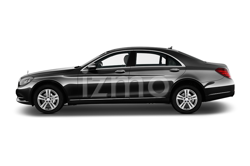Car Driver side profile view of a 2017 Mercedes Benz S-Class Executive-Line 4 Door Sedan Side View