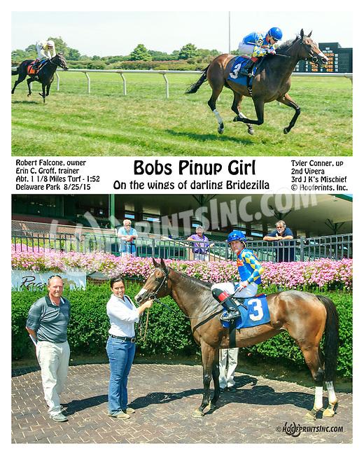 Bobs Pinup Girl winning at Delaware Park on 8/25/15