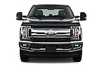 Car photography straight front view of a 2017 Ford F-350 XLT-Crew 4 Door Pickup Front View