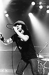 AC/DC 1980 Brian Johnson.© Chris Walter.