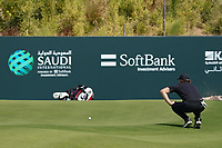Thomas Pieters (BEL) on the 9th during Round 4 of the Saudi International at the Royal Greens Golf and Country Club, King Abdullah Economic City, Saudi Arabia. 02/02/2020<br /> Picture: Golffile | Thos Caffrey<br /> <br /> <br /> All photo usage must carry mandatory copyright credit (© Golffile | Thos Caffrey)