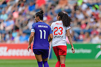 Bridgeview, IL - Saturday July 22, 2017: Ali Krieger, Christen Press during a regular season National Women's Soccer League (NWSL) match between the Chicago Red Stars and the Orlando Pride at Toyota Park. The Red Stars won 2-1.
