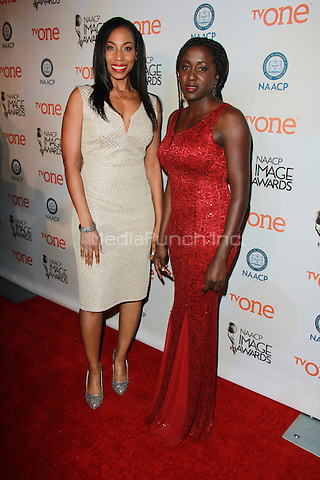 PASADENA, CA - FEBRUARY 5: Sharon Brathwaite, Peres Owino at the 46th NAACP Image Awards Non-Televised Ceremony at the Pasadena Convention Center in Pasadena, California on February 5, 2015. Credit: David Edwards/Dailyceleb/MediaPunch