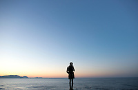 Annuska at La Salvaje Beach sunset, Sopelana, Bilbao, Spain.