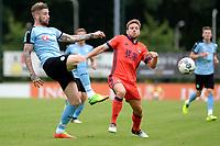 25 km<br /> HAREN - Voetbal, FC Groningen - Real Sociedad, voorbereiding seizoen 2017-2018, 02-08-2017,  FC Groningen speler Lars Veldwijk  met Illarromendi