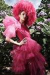 Sunday Mail Fashion with Mirella, ASMF,  Coture Love Madness Melbourne Cup Fashions,  on location Botanic Gardens ,  Photo: Nick Clayton