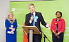 General Election count for the Twickenham &amp; Richmond Park constituencies at the Twickenham Rugby Stadium, Twickenham, Middlesex, Great Britain <br /> 9th June 2017 <br /> <br /> Zac Goldsmith wins the Richmond Park <br /> <br /> Photograph by Elliott Franks <br /> Image licensed to Elliott Franks Photography Services