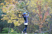 Brookfield Central's Emily Balding tees off on #10 at the 2015 WIAA state girls golf championship on Monday, October 12, 2015 at University Ridge Golf Course in Madison, Wisconsin