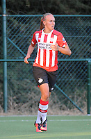 20160824 - GENT , BELGIUM : PSV Eindhoven's Kirsten Koopmans  pictured during a friendly game between KAA Gent Ladies and PSV Eindhoven during the preparations for the 2016-2017 season , Wednesday 24 August 2016 ,  PHOTO Dirk Vuylsteke   Sportpix.Be