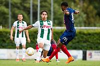 HAREN - Voetbal, FC Groningen - SM Caen, voorbereiding seizoen 2018-2019, 04-08-2018, FC Groningen speler Ludevit Reis met Ronny Rodelin