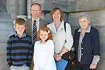 Aine Cassidy and family at the Scoil Aonghusa Communion in St.Peters Church...Photo NEWSFILE/Jenny Matthews.(Photo credit should read Jenny Matthews/NEWSFILE)....This Picture has been sent you under the condtions enclosed by:.Newsfile Ltd..The Studio,.Millmount Abbey,.Drogheda,.Co Meath..Ireland..Tel: +353(0)41-9871240.Fax: +353(0)41-9871260.GSM: +353(0)86-2500958.email: pictures@newsfile.ie.www.newsfile.ie.FTP: 193.120.102.198.