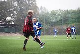 Ligaspiel, Roma Fußballmannschaft in Decin. Sie spielen in der tschechischen Kreisklasse und werden  oft boykottiert von den anderen Klubs. / Czech roma  soccerteam