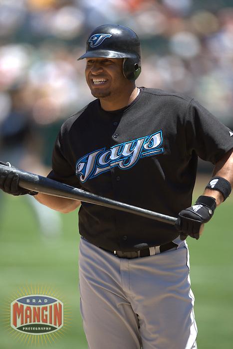 Vernon Wells. Baseball: Toronto Blue Jays vs Oakland Athletics. Oakland, CA 7/20/2004 MANDATORY CREDIT: Brad Mangin