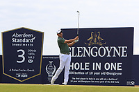 Christiaan Bezuidenhout (RSA) on the 3rd during Round 4 of the Aberdeen Standard Investments Scottish Open 2019 at The Renaissance Club, North Berwick, Scotland on Sunday 14th July 2019.<br /> Picture:  Thos Caffrey / Golffile<br /> <br /> All photos usage must carry mandatory copyright credit (© Golffile | Thos Caffrey)