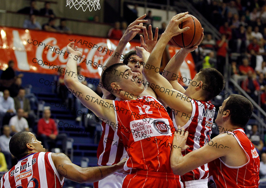 Kosarka ABA League season 2013-2014<br /> Crvena Zvezda v Radnicki (Kragujevac)<br /> Nikola Kalinic (L) and Luka Mitrovic (R)<br /> Beograd, 12.10.2013.<br /> foto: Srdjan Stevanovic/Starsportphoto &copy;