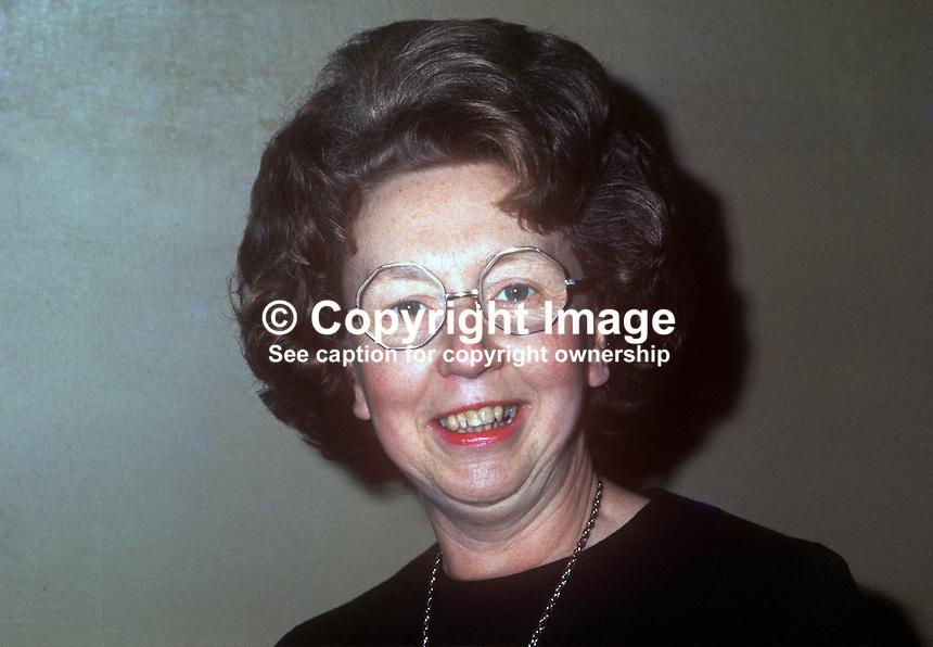 Dr Margaret Sutherland, Professor of Education, Queen's University, Belfast, N Ireland. 197210000664b<br />