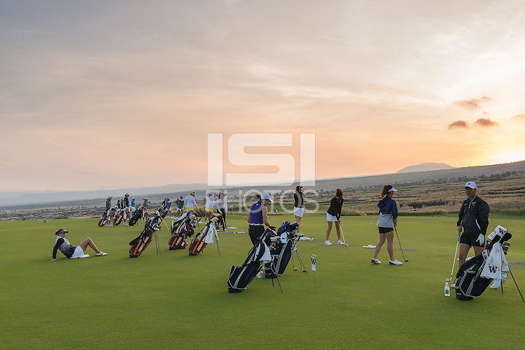 Kailua Kona, HI - October 25, 2016: The Stanford Cardinal compete at the PAC 12 Preview at Nanea Golf Club.