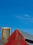 A barn and silo near Dallas Center, Iowa.