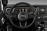 Car pictures of steering wheel view of a 2020 Jeep Wrangler Unlimited Sport S 5 Door SUV