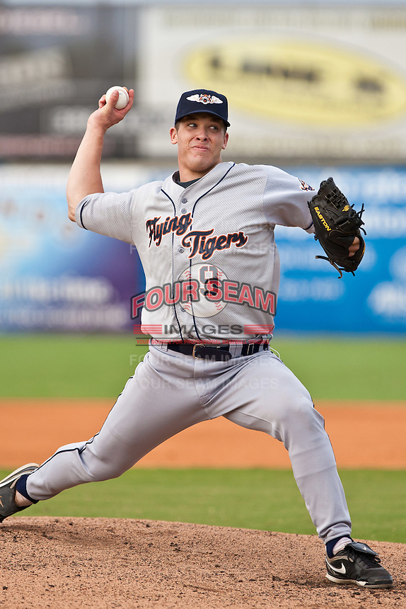 Jeff Barfield of the Lakeland Flying Tigers during the game at Jackie Robinson Ballpark in Daytona Beach, Florida on August 29, 2010. Photo By Scott Jontes/Four Seam Images