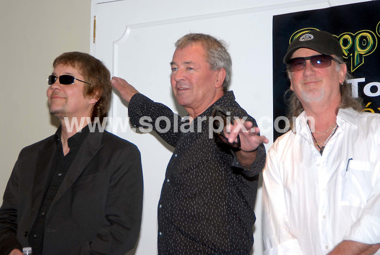 **ALL ROUND PICTURES FROM SOLARPIX.COM**                                             **WORLDWIDE SYNDICATION RIGHTS EXCEPT SPAIN & SOUTH AMERICA - NO SYNDICATION IN SPAIN OR SOUTH AMERICA**                                                                                  Caption: legendary rock group Deep Purple talking about the South American tour today in Mexico City, Mexico, South America . 22 February 2011                                                                              This pic: Deep Purple                                                                                JOB REF: 12878 MPA       DATE: 22_02_2011                                                           **MUST CREDIT SOLARPIX.COM OR DOUBLE FEE WILL BE CHARGED**                                                                      **MUST AGREE FEE BEFORE ONLINE USAGE**                               **CALL US ON: +34 952 811 768 or LOW RATE FROM UK 0844 617 7637**