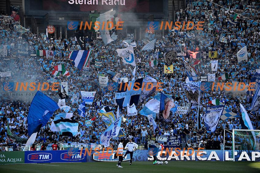 Tifosi Lazio supporters .Roma 26/05/2013 Stadio Olimpico.Football Calcio 2012/2013 .Calcio Finale Coppa Italia / Italy Cup Final.Roma Vs Lazio.Foto Andrea Staccioli Insidefoto
