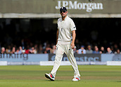9th September 2017, Lords Cricket Ground, London, England; International test match series, third test, Day 3; England versus West Indies; England Alastair Cook takes up his position in the field