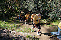 Solano Canyon Community Garden, Occidental College's MLK Day of Service on Saturday, Jan. 28, 2012. Students, staff and alumni volunteered their day to help in the community. (Photo by Marc Campos, Occidental College Photographer)