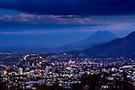 San Vincente Volcano rises above the city of San Salvador, El Salvador.