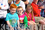 Ruairi Lacy, Monty O'Halloran and Milly O'Halloran. enjoying the Ballyheigue Summer Festival Grand Parade on Sunday