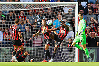 Jefferson Lerma of AFC Bournemouth (8) clears the ball  during AFC Bournemouth vs Leicester City, Premier League Football at the Vitality Stadium on 15th September 2018