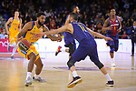 League ACB-ENDESA 2017/2018 - Game: 12.<br /> FC Barcelona Lassa vs Herbalife Gran Canaria: 77-88.<br /> DJ Seeley vs Juan Carlos Navarro.