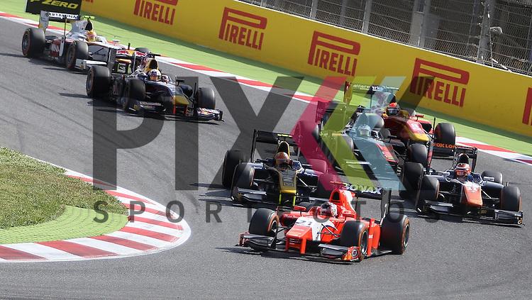 Barcelona, 10.05.15, Motorsport, GP3 Series Barcelona 2015 : Start<br /> <br /> Foto &copy; P-I-X.org *** Foto ist honorarpflichtig! *** Auf Anfrage in hoeherer Qualitaet/Aufloesung. Belegexemplar erbeten. Veroeffentlichung ausschliesslich fuer journalistisch-publizistische Zwecke. For editorial use only.