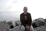 Writer Aleksandar Hemon is seen by Lake Michigan in the Edgewater neighborhood of Chicago, Illinois on May 7, 2009.