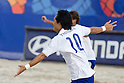 Shusei Yamauchi (JPN), SEPTEMBER 02, 2011 - Beach Soccer : Shusei Yamauchi of Japan celebrates his goal during the FIFA Beach Soccer World Cup Ravenna-Italy 2011 Group D match between Japan 2-3 Mexico at Stadio del Mare, Marina di Ravenna, Italy, (Photo by Enrico Calderoni/AFLO SPORT) [0391]