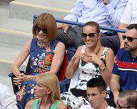 FLUSHING NY- SEPTEMBER 09: Anna Wintour and Jelena Djokovic seen watching Novak Djokovic Vs Gael Monfils during the mens semi finals on Arthur Ashe Stadium at the USTA Billie Jean King National Tennis Center on September 9, 2016 in Flushing Queens. Credit: mpi04/MediaPunch