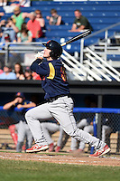 State College Spikes designated hitter Adam Ehrlich (39) at bat during a game against the Batavia Muckdogs on June 22, 2014 at Dwyer Stadium in Batavia, New York.  State College defeated Batavia 10-3.  (Mike Janes/Four Seam Images)
