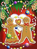 Randy, CHRISTMAS SYMBOLS, WEIHNACHTEN SYMBOLE, NAVIDAD SÍMBOLOS, paintings+++++Gingerbread-Print-Romance,USRW91,#xx# ginger bread