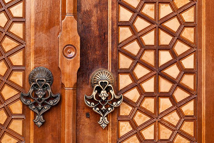 Firuz Aga Mosque Door 01 - Main entrance doors at the Firuz Aga Mosque, Sultanahmet, Istanbul, Turkey