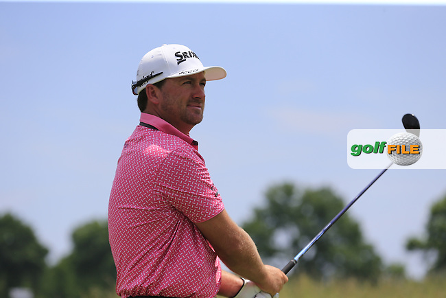 Graeme McDowell (NIR) tees off the 11th tee during Wednesday's Practice Day of the 2016 U.S. Open Championship held at Oakmont Country Club, Oakmont, Pittsburgh, Pennsylvania, United States of America. 15th June 2016.<br /> Picture: Eoin Clarke   Golffile<br /> <br /> <br /> All photos usage must carry mandatory copyright credit (&copy; Golffile   Eoin Clarke)